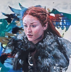 Sansa Stark by Zinsky -  sized 29x29 inches. Available from Whitewall Galleries